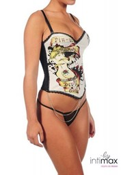 Corset Diable Blanco Pin-up